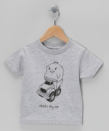 Gray 'Chicks Dig Me' Tee - Toddler & Boys