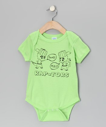 Key Lime 'Rap-tors' Bodysuit - Infant