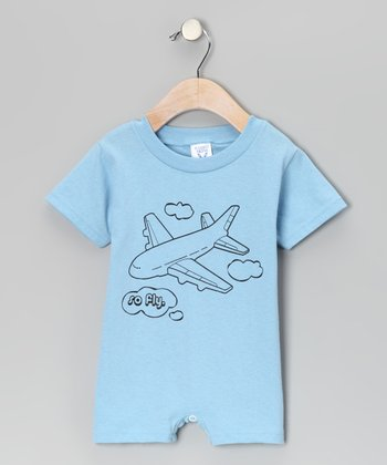 Light Blue 'So Fly' Romper - Infant