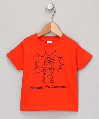 Orange 'Awesome' Tee - Toddler & Kids