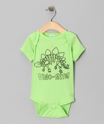 Key Lime 'Dino-Mite' Bodysuit - Infant