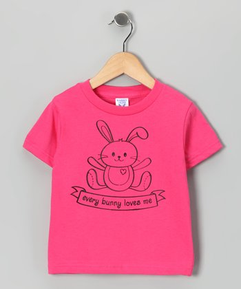 Hot Pink 'Every Bunny' Tee - Toddler & Girls