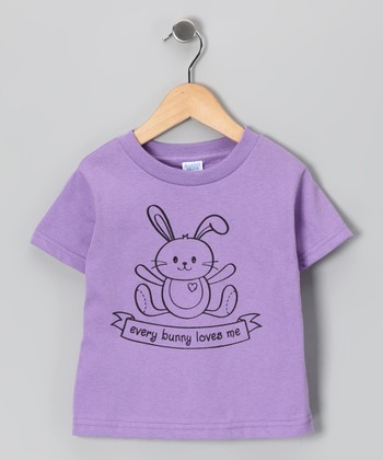 Lavender 'Every Bunny' Tee - Toddler & Girls