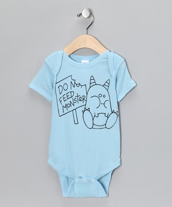 Blue 'Feed Monster' Bodysuit - Infant