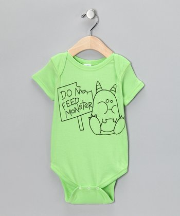 Key Lime 'Feed Monster' Bodysuit - Infant
