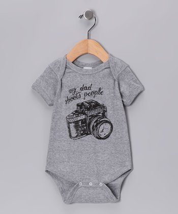 Gray 'My Dad Shoots People' Bodysuit - Infant
