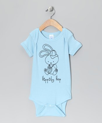 Light Blue 'Hippity Hop' Bodysuit - Infant