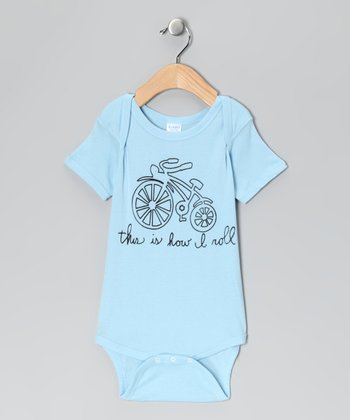Light Blue 'This Is How I Roll' Bodysuit - Infant