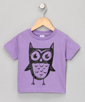 Lavender Just Another Owl Tee - Toddler & Kids