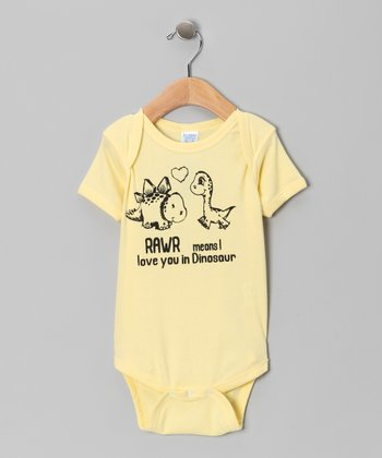 Banana 'Love You in Dinosaur' Bodysuit - Infant