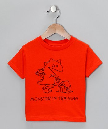 Orange 'Monster in Training' Tee - Toddler & Kids