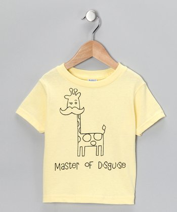 Yellow 'Master of Disguise' Tee - Toddler & Kids