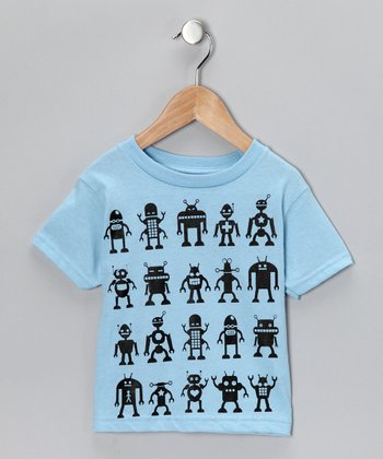 Blue Robot Attack Tee - Toddler & Boys
