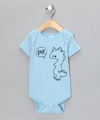 Blue 'Rar' Bodysuit - Infant