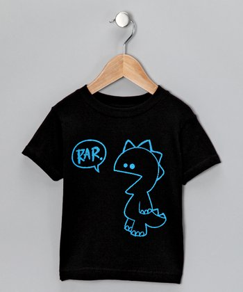 Black 'Rar' Tee - Toddler & Boys
