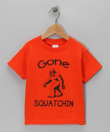 Orange 'Gone Squatchin' Tee - Toddler & Kids