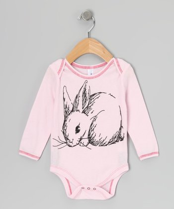 Pink Snuggle Bunny Thermal Bodysuit - Infant