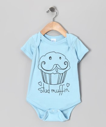 Light Blue 'Stud Muffin' Bodysuit - Infant
