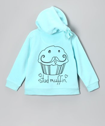 Blue 'Stud Muffin' Zip-Up Hoodie - Infant