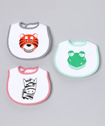 Animal Teething Bib Set