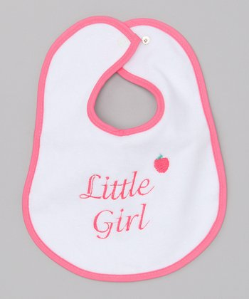 Raindrops Hot Pink 'Little Girl' Bib