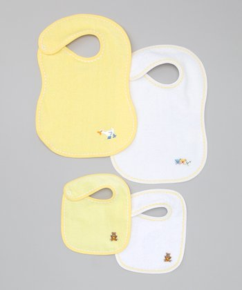 Yellow & White Bib Set