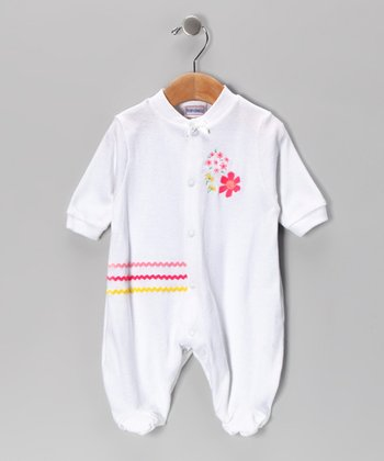 White Flower Power Footie - Infant