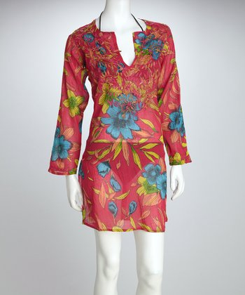 Fuchsia Petal Cover-Up
