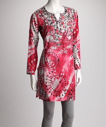 Pink Animal Art Tunic