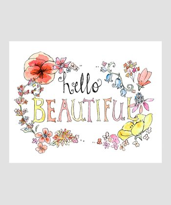 Blush 'Hello Beautiful' Archival Print