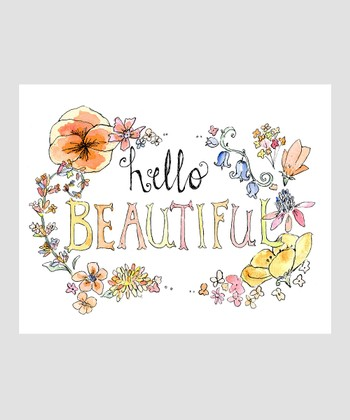 Peach 'Hello Beautiful' Archival Print