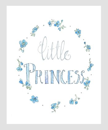 Blue 'Little Princess' Archival Print