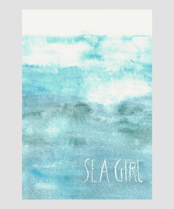 Blue 'Sea Girl' Archival Giclee Print