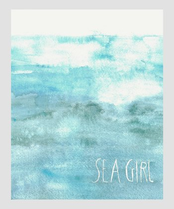 Blue 'Sea Girl' Archival Print