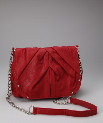 Scarlet Studded Shoulder Bag