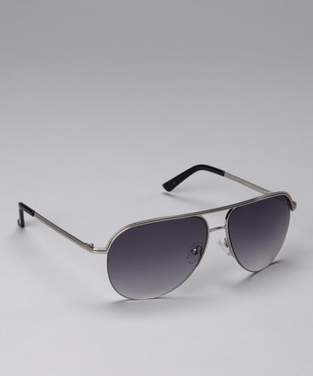 Gray Wire-Frame Sunglasses