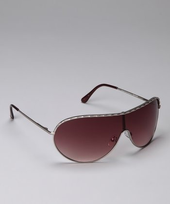 Gray & Black Shield Sunglasses