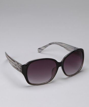 Black & Purple Classic Sunglasses