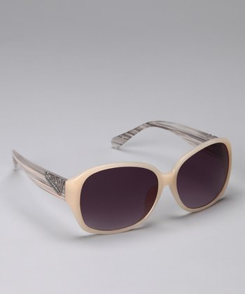 Purple & Ivory Classic Sunglasses