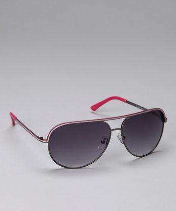 Purple & Pink Wire-Frame Sunglasses