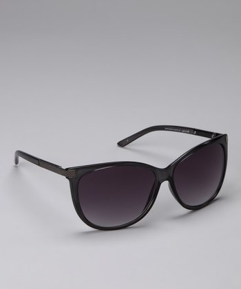 Black & Purple Rounded Sunglasses