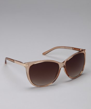 Gold Rounded Sunglasses