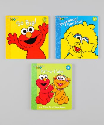Sesame Beginnings Game Board Book Set