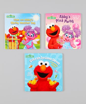 Elmo & Abby Board Book Set