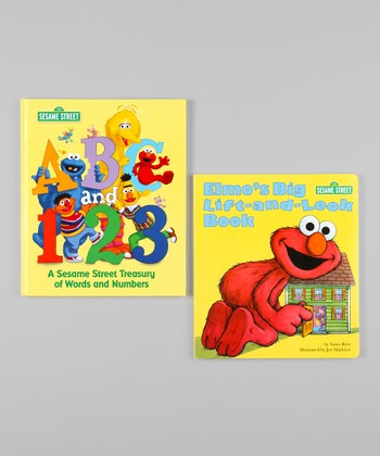 ABC & 123 Hardcover & Lift-and-Look Board Book Set