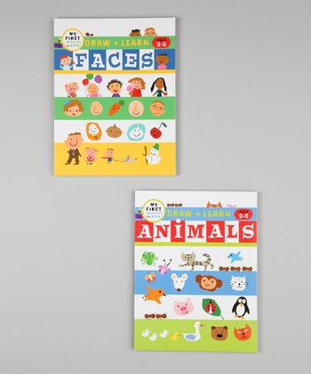 Animals & Faces Draw & Learn Activity Books