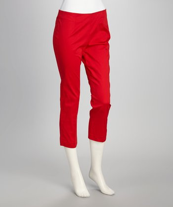 Red Capri Pants