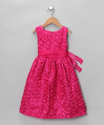Pink & Fuchsia Satin Dress - Infant