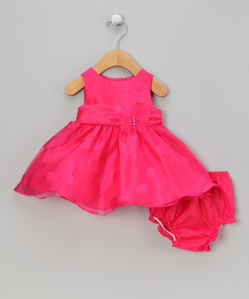 Fuchsia Butterfly Dress & Diaper Cover - Infant
