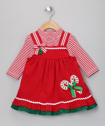 Red Candy Cane Jumper & Bodysuit - Infant